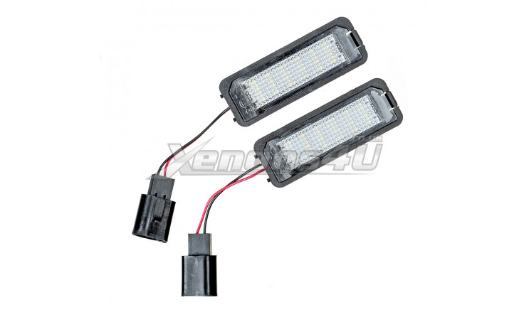 VW Polo MK4 9N MK5 6R Passat B6 Scirocco EOS LED Number Plate Lights