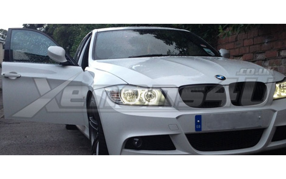 bmw e90 lci led angel eyes e91 facelift 20w h10w cree led bulbs. Black Bedroom Furniture Sets. Home Design Ideas