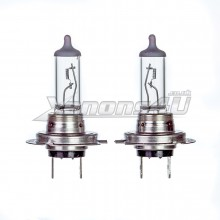 H7 55W Clear Glass Headlight Bulbs 12V