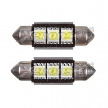 36mm 3 SMD 5050 LED Festoon Canbus Bulbs