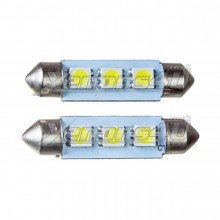 42mm 5050 SMD 3 LED Festoon Canbus Bulbs