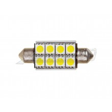 42mm 8 SMD LED Canbus Festoon Bulb