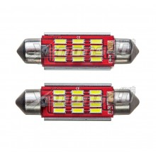 42mm C10W 12 SMD 4014 LED Interior Light Canbus 265 Festoon Bulbs