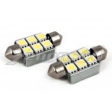 36mm 6 5050 SMD LED Festoon Canbus Bulbs