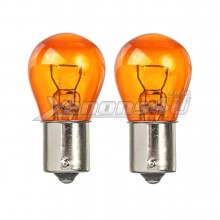 LUMRO Original BAU15S PY21W 581 Amber Turn Signal Indicator Bulbs