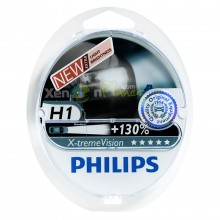 Philips H1 X-treme Vision Headlight Bulbs