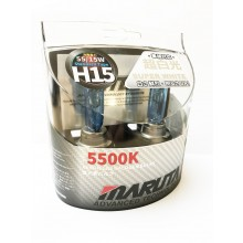 Maruta MTEC H15 Super White 5500K Upgrade bulbs 15/55W
