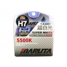 Maruta MTEC H7 55W 12V Super White 5500K Xenon Gas Halogen Bulbs