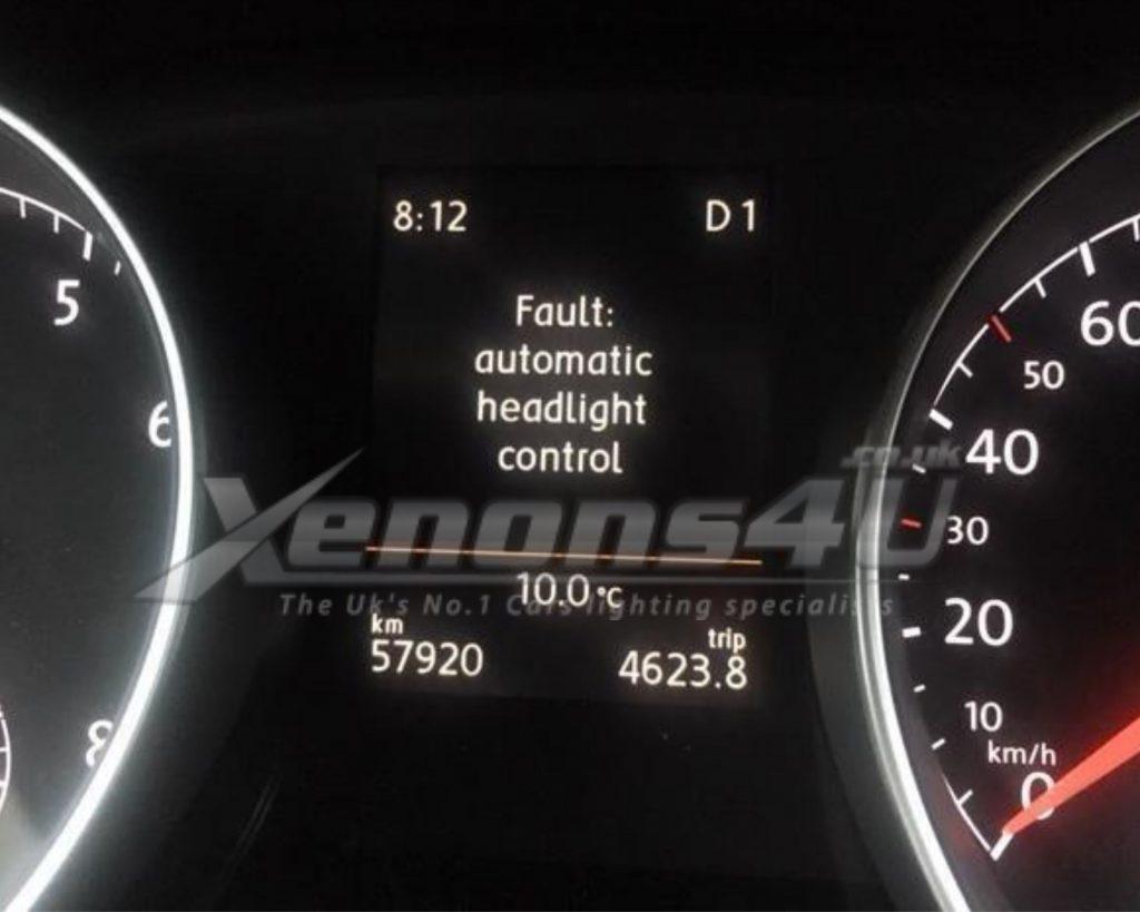 Audi VW Skoda Seat Warning Fault Automatic Headlight Control Explained